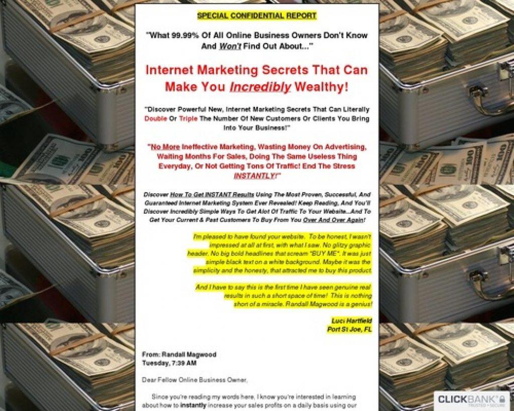 Randall Magwood's Internet Marketing Cash Machine