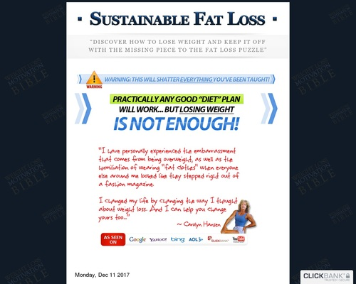 The Weight Loss Motivation Bible: How To Program Your Mind For Sustainable Fat Loss