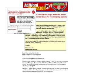 Ad Word Generator
