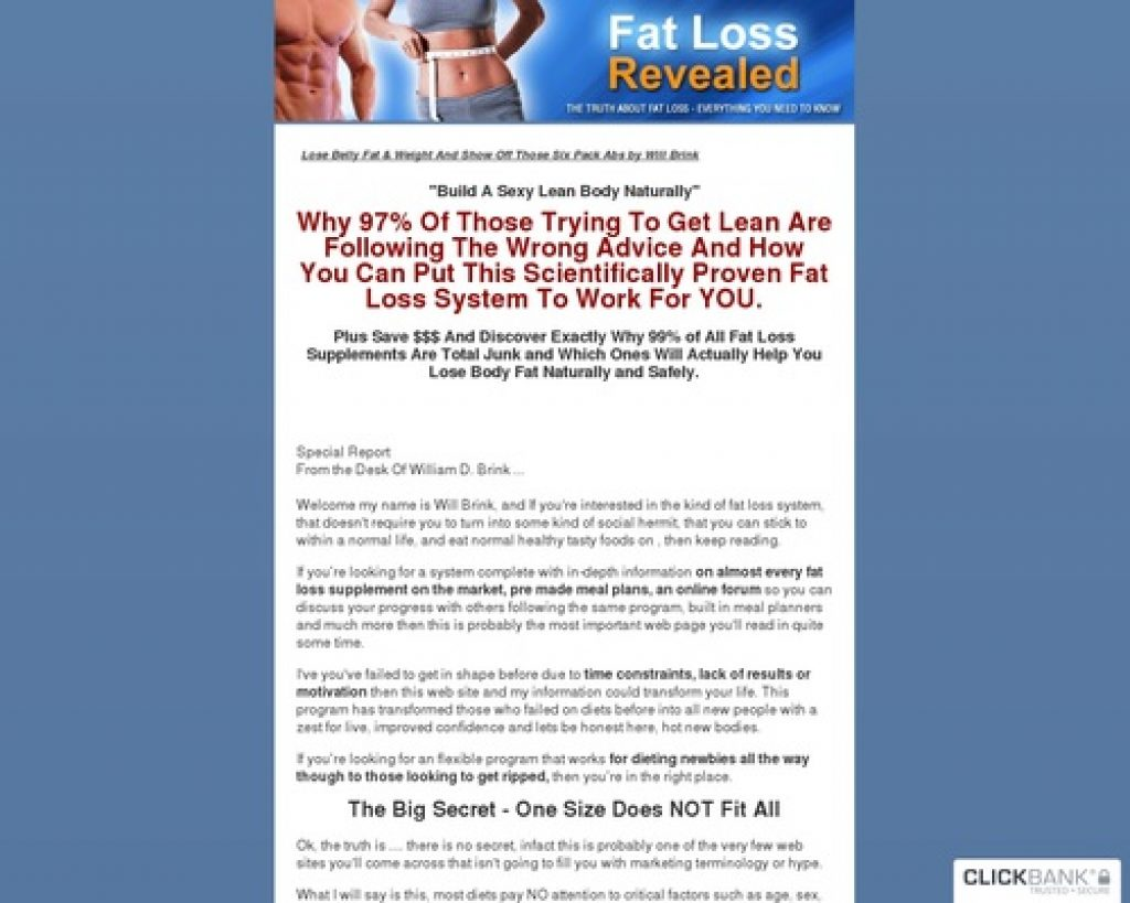 Lose Belly Fat & Get Six Pack Abs - Fat Loss Revealed