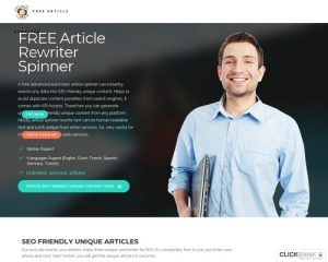 Free Article Rewriter Spinner