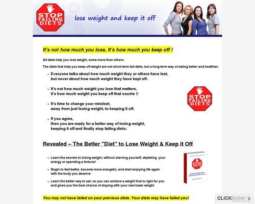 How To Lose Weight And Keep It Off - Stop Failing Diets