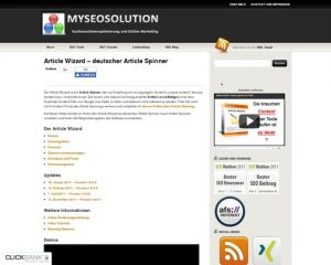 Article Wizard - deutscher Article Spinner | MySEOSolution