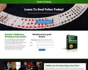 Online Poker Dealer School