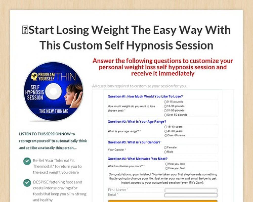 Custom New Thin Me Session Clickbank 2 - Program Yourself Thin