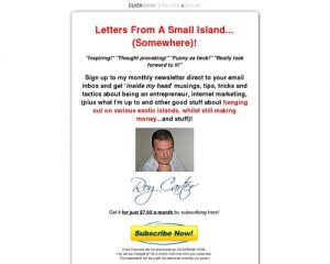 Letters From A Small Island Newsletter