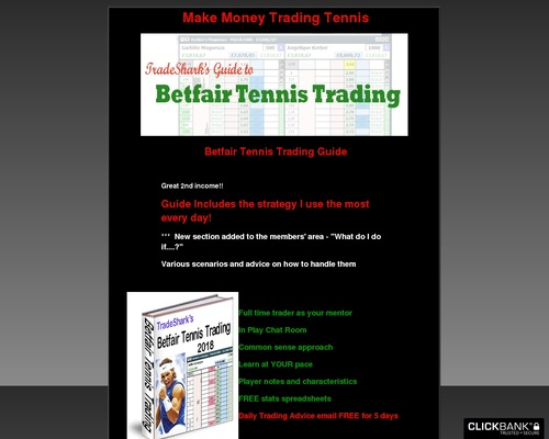 Betfair Tennis Trading. Learn from a full time trader.