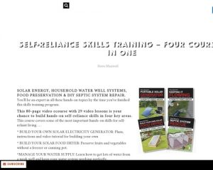 Self-reliance Skills Training - Four Courses In One