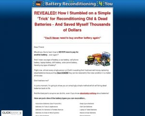 Battery Reconditioning 4 You - How To Recondition Death Batteries