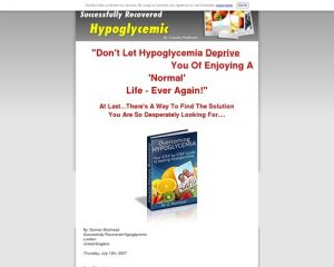 Overcoming Hypoglycemia - Ebook Guide