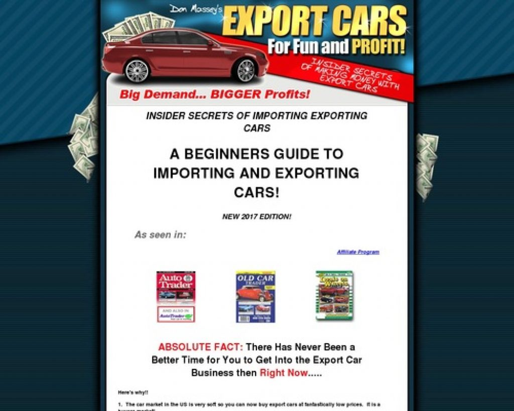 Export and Import Car Business