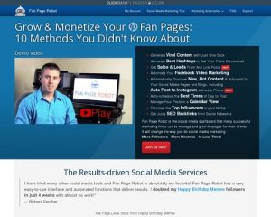 Fan Page Robot   10-in-1 Marketing Software Autoposter to Increase Social Media Followers