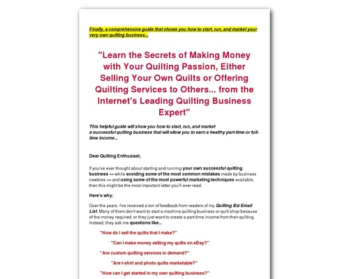 How to Start Your Own Quilting Business