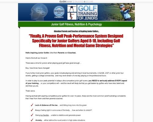 Golf Training For Juniors