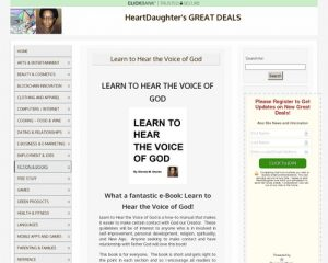 Learn to Hear the Voice of God - HeartDaughter's GREAT DEALS