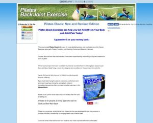 Pilates Ebook -Pilates Relief for Back and Joint Pain