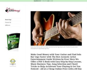 Acoustic Guitar Money: Easy Lessons, Tips & Tricks to Play Bar Gigs & Book Solo Acoustic Music Entertainment Jobs