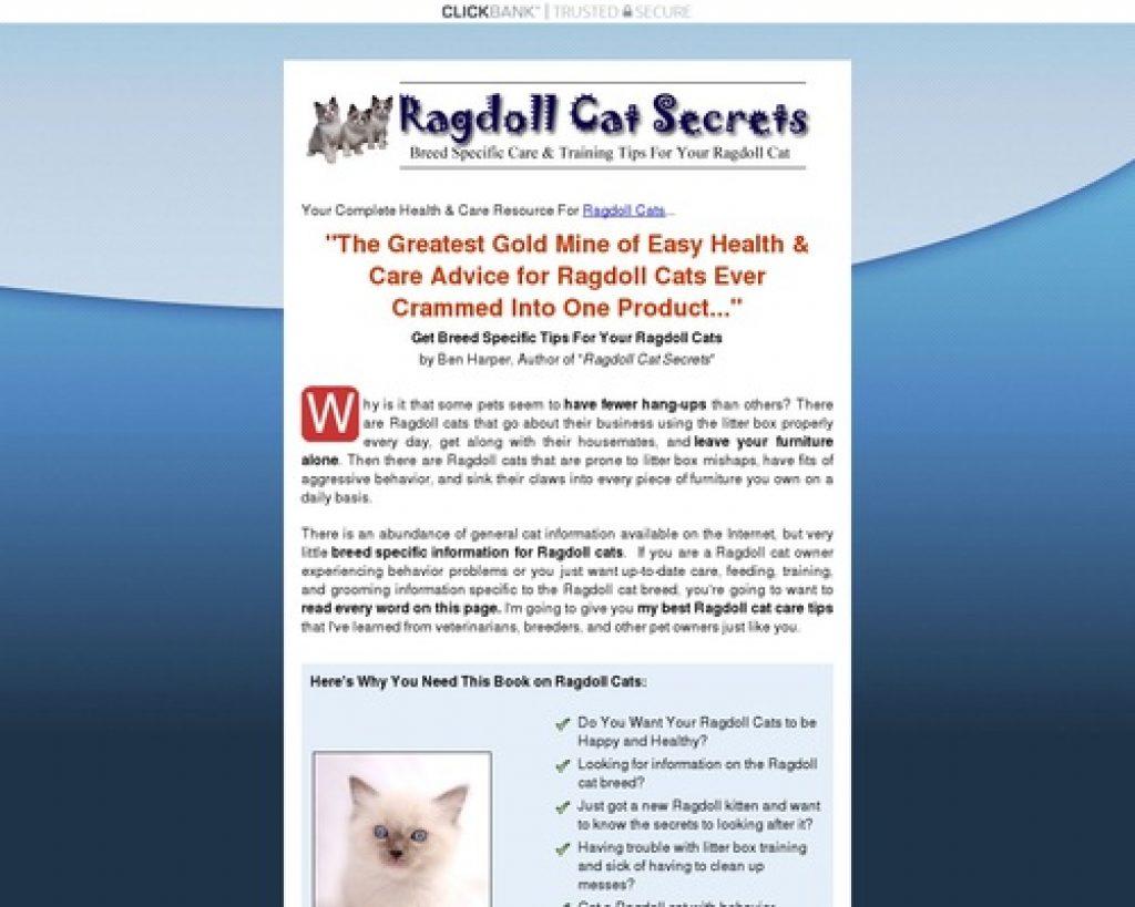 Ragdoll Cat Secrets - Pet Owners Guide.