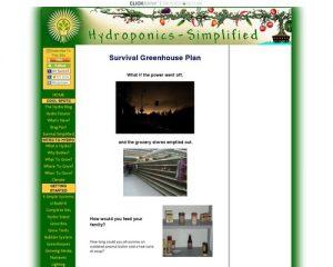 SURVIVAL GREENHOUSE PLAN