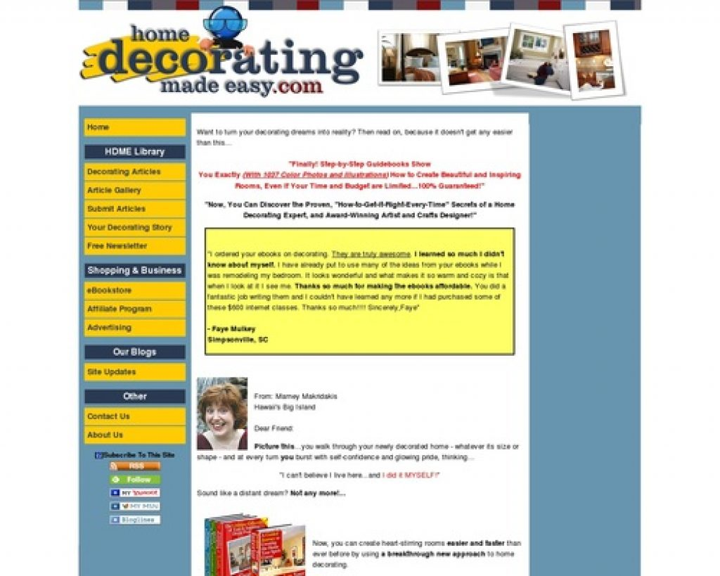 Unique eBooks help you to learn interior decorating faster than ever!