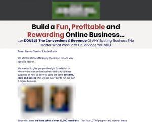 Online Marketing Classroom - Up To $748/sale!