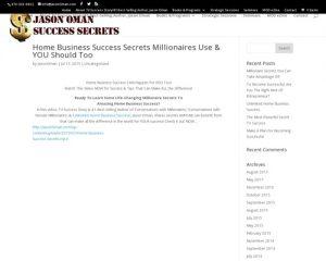 Home Business Success Secrets Millionaires Use & YOU Should Too | Jason Oman Success Secrets