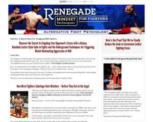 Renegade Mindset For Fighters