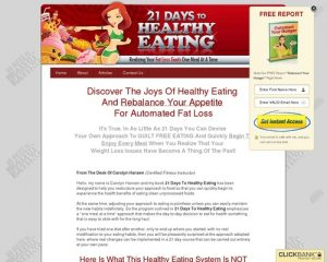 21 Days To Healthy Eating: Realizing Your Fat Loss Goals One Meal At A Time