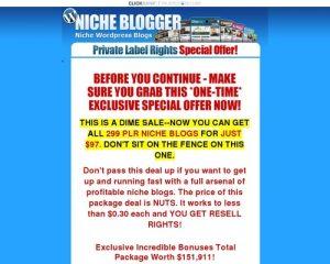 The Niche Blog Pack - 299 Niche PLR Wordpress Blogs With Content