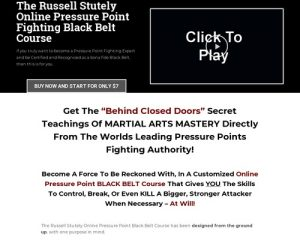 Clickbank – Online Pressure Point Black Belt Course | Learn Pressure Point Fighting