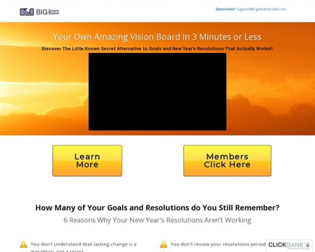 Membership Options — Big Dream Board