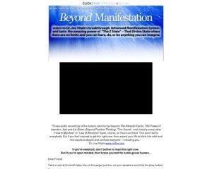 Beyond Manifestation - Dr. Joe Vitale