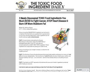 101 Toxic Food Ingredients - New Conversion Breakthrough