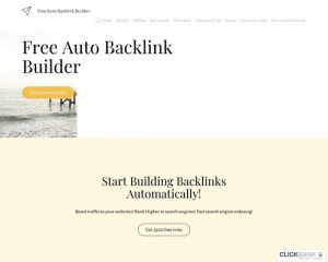 Free auto backlink builder generator