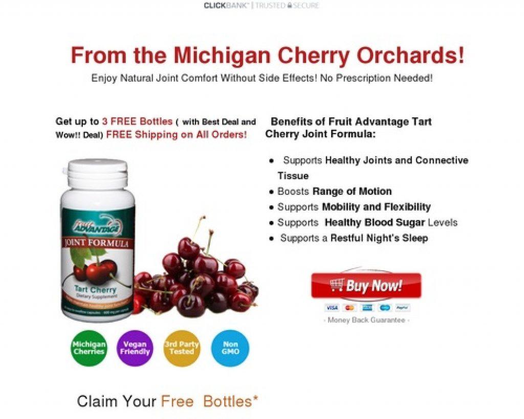 Cherry Pills – Fruit Advantage Tart Cherry Joint Formula