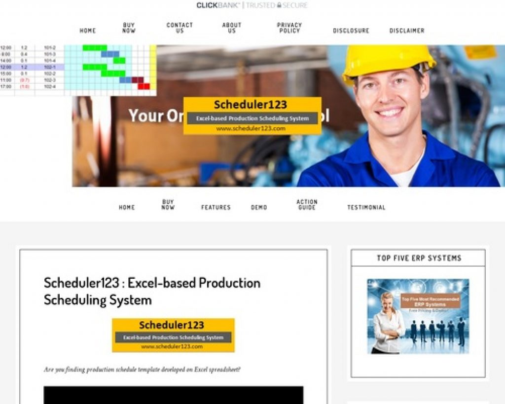Production Schedule Template - Production Scheduling in Excel Spreadsheet for Master Scheduler