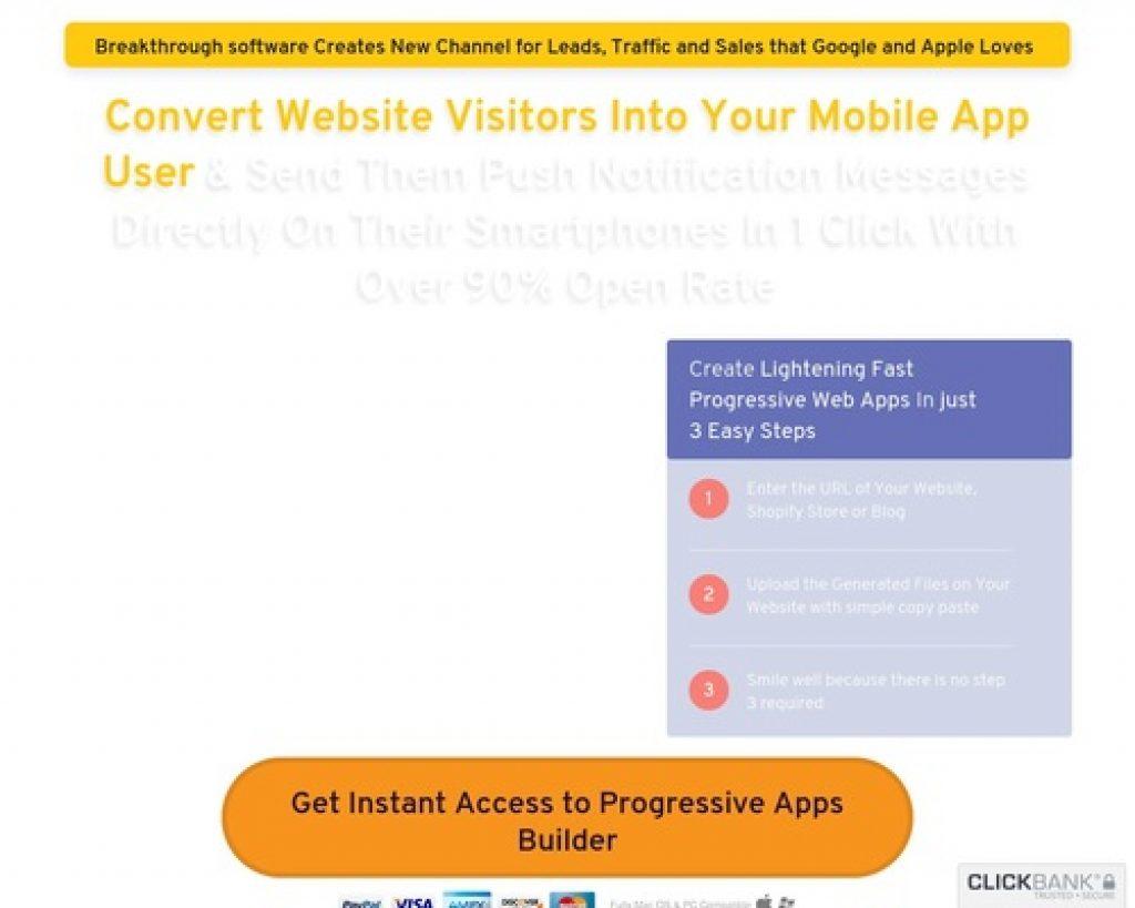 Progressive Apps Builder