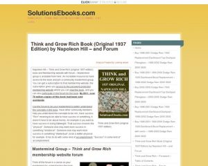 Think & Grow Rich (original 1937) Ebook - & Forum - Membership Website