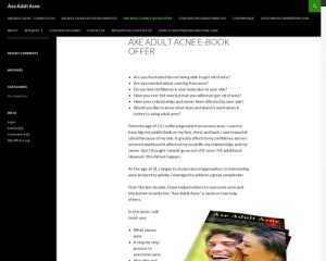 Axe Adult Acne E-book Offer (NEW) | Axe Adult Acne