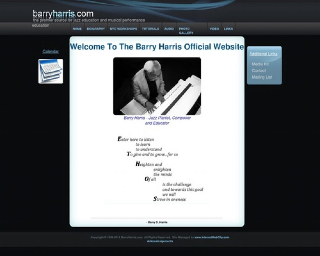 The Official Barry Harris Website for Jazz Education and Information