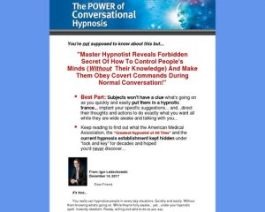 Conversational Hypnosis Video Training Crash Course
