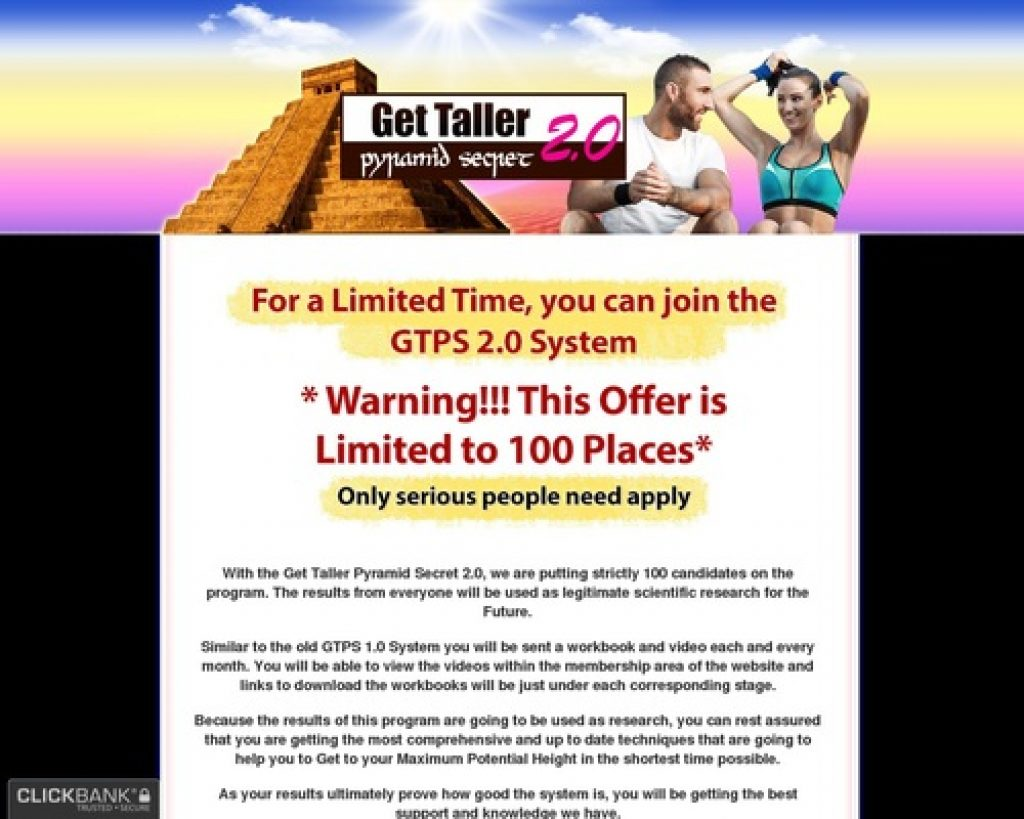 Get Taller Pyramid Secrets 2.0
