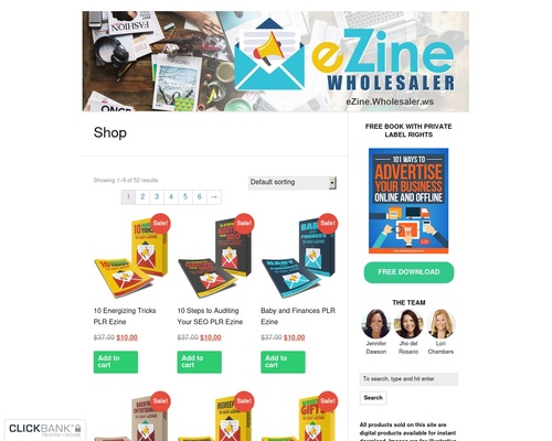 Ezine Wholesaler — eZines, eCourses, and eMail Content with Private Label Rights