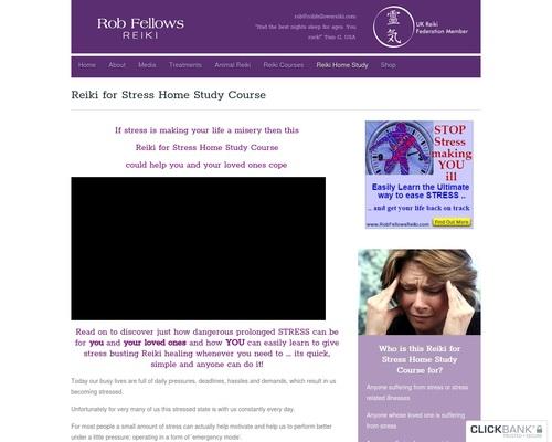 Reiki for Stress Home Study Course - Rob Fellows Reiki