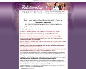 Joe Rubino's Relationship Coaching Certification