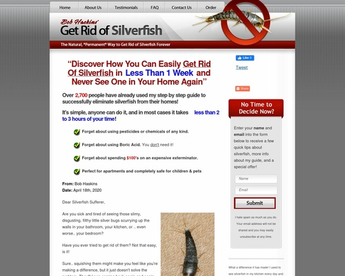 Get Rid of Silverfish - A Step by Step Guide by Bob Haskins
