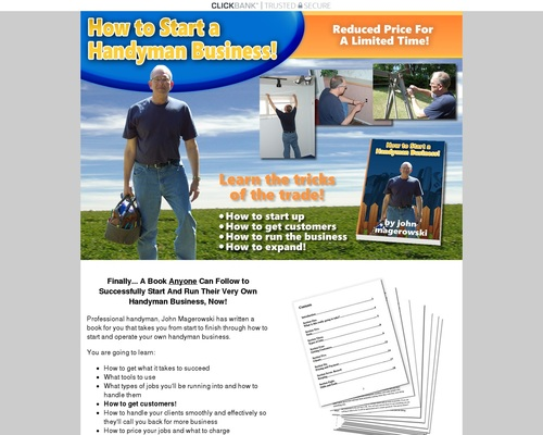 How To Start And Run Your Own Handyman Business Successfully!