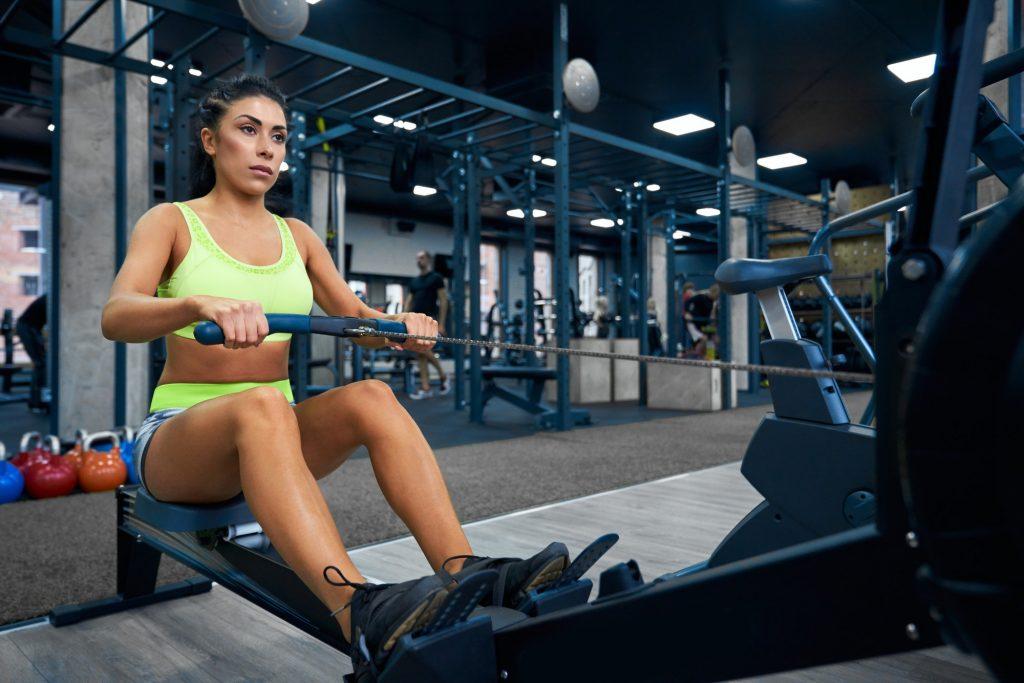 Fitness woman training back